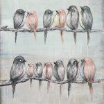 Birds painting Fine Art Original kunst Vögel Malerei