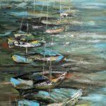 Am Ufer, 100x150cm, Acryl, Öl, Leinwand